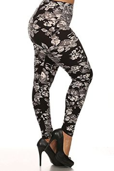 37a253831e Leggings Depot Ultra Soft Women's Popular Best Printed Fashion Leggings  Batch10 at Amazon Women's Clothing store:
