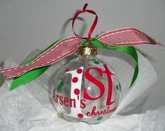 Personalized Baby's First Christmas ornament $7.99