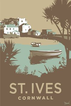 St Ives (SR15) Beach and Coastal Print http://www.thewhistlefish.com/product/st-ives-print-by-steve-read-p-sr15 #stives #cornwall