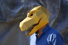 NEED A FANCY DRESS COSTUME? Make your own T-REX DINOSAUR MASK from recycled card with these easy to follow instructions.  I have designed this set of templates and instructions so that you can create your own impressive 3D Low-Poly T-Rex Dinosaur Mask. The masks are designed to be easy to build so you dont need to be some sort of arts and crafts wizard and the finished masks are robust so should survive the wildest of parties. They are ideal for wearing to festivals, parties and even…