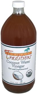 Give away Tropical Traditions Raw Coconut Water Vinegar blog post Natural & Frugal: raising 6 kids on facebook & @NaturalCheree on Twitter & Just Cheree on Pinterest