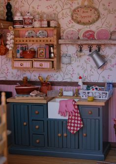Cute miniature kitchen