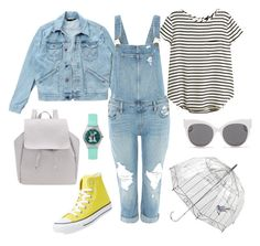 """""""ootd"""" by csimagen on Polyvore featuring moda, Wrangler, H&M, Paige Denim, Converse, Blanc & Eclare y Lulu Guinness"""