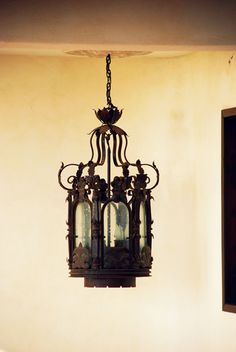 use i the kitchen a Substantial antique pendant/chandelier.