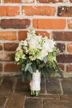 woody, rustic white bouquet by Dianna's Flowers / photo by photosbybeca.com