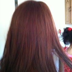Jennifer's red brown hair
