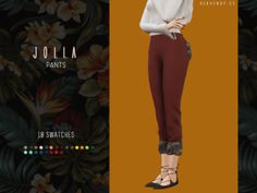 Jolla Pants for The Sims 4 by Heavendy-cc