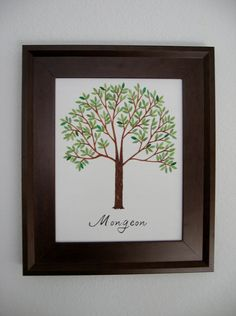 another family tree- painted on canvas