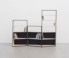 'SML LR' bookshelf by Luna Seo.