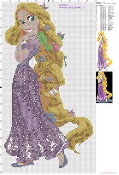 Princess Tangled cross stitch pattern (click to view)