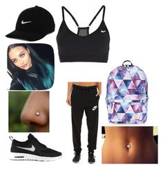 """""""Back to school"""" by kkdeamues ❤ liked on Polyvore featuring NIKE and Accessorize"""