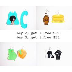 KLT Art by Kendro earring sale #kltart  #erykahbadu #badu #baduizm #baduism #kawaii #kawaiiart #kawaiijewelry #georgia #georgiapeach #gapeach #angeladavis #blackpanther #blackpanthers #smallbiz #blackowned #blackownedbusiness #etsy #etsyuk #etsyseller #etsyart #etsyjewelry #etsyearrings