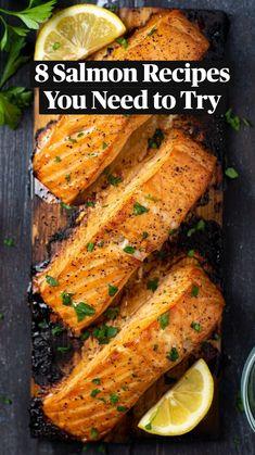 Salmon Recipes, Pork Recipes, Fish Recipes, Seafood Pasta Recipes, Lobster Recipes, Fun Cooking, Cooking Recipes, Ginger Salmon, Recipes
