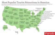 The Most Popular Tourist Attractions in All 50 States, According to TripAdvisor