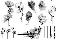 flower sketch - Google 搜尋