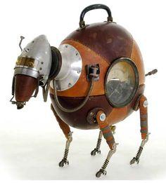 Stephane Halleux y su galeria robots y humanoides Steampunk Robots Steampunk, Design Steampunk, Steampunk Kunst, Mode Steampunk, Style Steampunk, Steampunk Gadgets, Steampunk Fashion, Steampunk Machines, Arte Robot