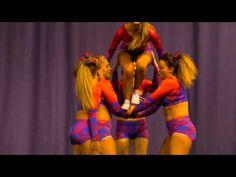 Infinity Cheer Senior Level 3 Group Stunt - YouTube Cheerleading, Cheer Stunts, Level 3, All Star, Infinity, Group, Youtube, Winter, Shirts