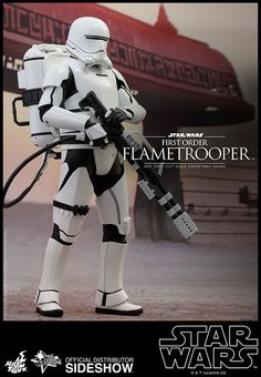 Hot Toys Star Wars Episode VII The Force Awakens First Order Flametrooper Scale Figure License: Star Wars Scale: Sixth Scale Figure Manufacturer: Hot Toys Star Wars Characters, Star Wars Episodes, Comic Book Characters, Gi Joe, Star Wars Art, Star Trek, Military Action Figures, Episode Vii, Daily Star