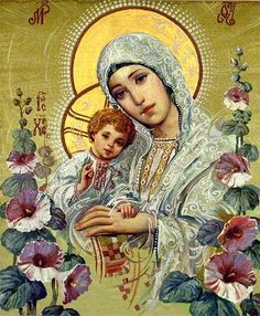 Ukrainian icon, Madonna and Child