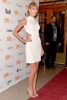 @roressclothes clothing ideas #women fashion Taylor Swift: White Cutout Dress by Calvin Klein