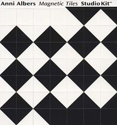 Anni Albers Magnetic Tiles Studio Kit (i want this so bad! could probably make it myself though)