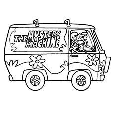 Scooby Doo Coloring Pages Mystery Machine