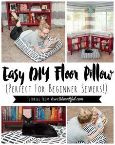 easy diy floor pillows. DIY Giant Floor Pillows  floor pillows and