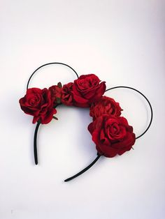 Painting the Roses Red Wire Mickey Ears by XOXOGossipMouse on Etsy