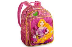 Rapunzel Backpack | Code: 01448 | To order: http://www.shopaholic.com.ph/#!/Rapunzel-Backpack/p/44549383 | She'll have lovely golden hair cascading down her back with this Rapunzel Backpack. The Disney Princess and her companion Pascal share a smile on this glittering backpack that's ideal for venturing out from a tower or heading to school.
