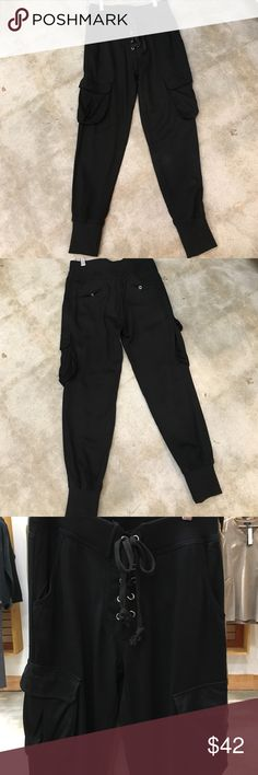 Black cargo pant Black cargo drawstring pant dance and marvel Pants Ankle & Cropped