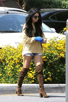 Thighs The Limit! Vanessa Hudgens Flashes Sexy Over The Knee Boots