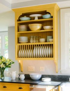 I like this plate rack - with a few changes I could display my Fiestaware to give me more cabinet space and make it user friendly too! DIY projectu2026 & I like this plate rack - with a few changes I could display my ...