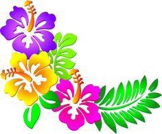 Hibiscus Flower Clipart - Clipart Suggest Hibiscus Clip Art, Purple Hibiscus, Hibiscus Flowers, Tropical Flowers, Tropical Frames, Exotic Flowers, Tropical Plants, Hawaiian Art, Hawaiian Quilts