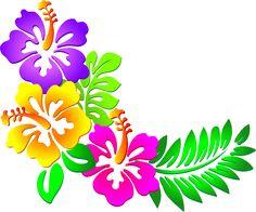 Hawaiian Flower Clip Art | tropical plants clip art vector clip art online royalty free hawaii ...