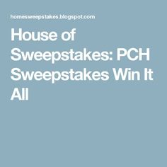 Official Online Entry Form ::: | PCH | Pinterest | Publisher ...