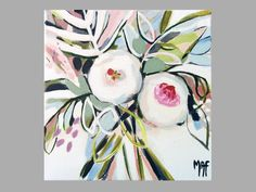 """Original Paintings of Flowers, Floral Wall Decoration, Flower Painting """"Flowers of May"""" Protea Art, Acrylic Flowers, Painting Flowers, Floral Paintings, Floral Wall, Floral Prints, Horse Drawings, Art Series, Flower Art"""