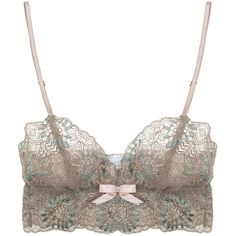 Eberjey Madeleine Bralet (1 340 UAH) ❤ liked on Polyvore featuring intimates, bras, lingerie, underwear, tops, lace lingerie, pink bras, long line bra, eberjey and pink lingerie