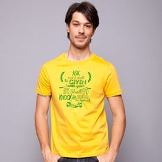 Ask And It Shall Be Given Yellow Tee