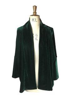 Baylis and Knight Green Velvet Kimono coverup festival
