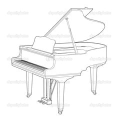 Baby Grand Pianos Plan Drawing Paper Houses Papercraft Crafts