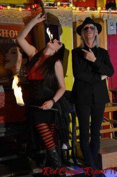 Asia Ray & Morgue at Set visit for AMC's #Freakshow #VeniceBeach  http://www.redcarpetreporttv.com/2014/05/09/what-does-a-fire-eater-shock-artist-hype-man-bearded-lady-amazing-ali-have-in-common-amcs-freakshow-realityseries-video-photos-set-visit/
