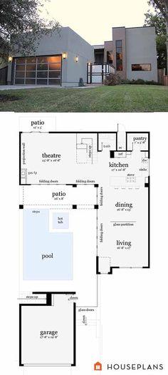 Casita Plan: Small Modern House Plan | Pinterest | Modern house ...