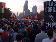 Starting line at the 2012 Philly Half Marathon