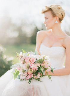 A gorgeous, soft pink bouquet