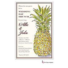 pineapple Luau party invitation cards