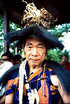 an old man from Mizo tribe, North East India