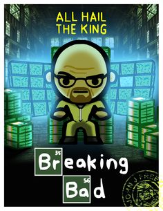 Every King needs his throne…..    This is obviously based on the season 5 poster. I used the original poster for the warehouse setting in the background. Sooo excited for the new season! :D    Breaking Bad !