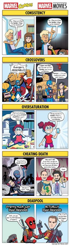 amusing-comic-strip-highlights-the-differences-of-marvel-comics-vs-marvel-movies