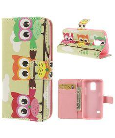 Samsung Galaxy S5 Mini Three Owls Leather Wallet Case