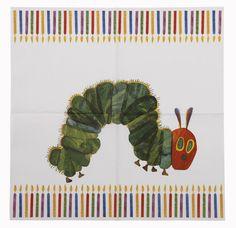 Diese süßen Servietten im Raupe Nimmersatt Design sind eine süße Dekoration auf einem Kindergeburtstag. Die Servietten findet ihr bei www.party-princess.de Die kleine Raupe Nimmersatt - The little caterpillar - The very hungry caterpillar